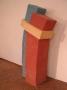 Ofenskulptur, die drei Grundfarben