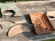 historische Ofenbestandteile